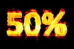 Fire sale 50%. An illustration of a fire sale 50 Royalty Free Stock Photography