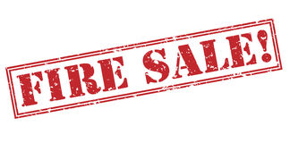 Fire sale red stamp Royalty Free Stock Image