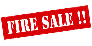 Fire sale Royalty Free Stock Photos
