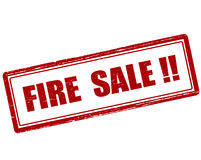 Fire sale. Rubber stamp with text fire sale inside,  illustration Royalty Free Stock Images
