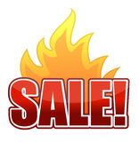 Fire Sale text illustration Stock Photos