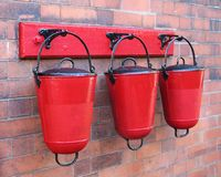 Fire Sand Buckets. Stock Image