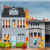 Fire scene Stock Image