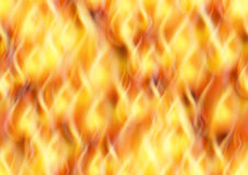 Fire, Seamless Background. Fire Seamless Pattern Background, Solid Wall of Blazing Red, Orange and Yellow Flames. Eps10, Contains Transparencies. Vector Stock Image