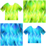 Fire, Seamless Background. Fire Seamless Background of Various Colors, Solid Wall of Blazing Blue and Green Flames, Colorful Tile Pattern for Your Design Stock Images