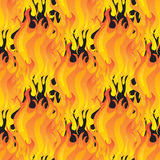 Fire seamless pattern Royalty Free Stock Images