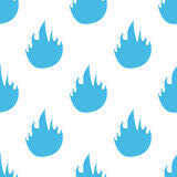 Fire seamless pattern. Fire white and blue seamless pattern for web design. Vector symbol Royalty Free Stock Photo