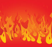 Fire seamless. Vector illustration Stock Photos