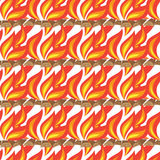Fire seamless. On white background. vector illustration Royalty Free Stock Photo