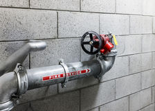 Fire Service Water Pipe Royalty Free Stock Image