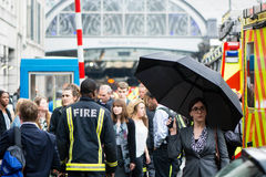 Fire services attend incident outside Paddington Station Royalty Free Stock Image