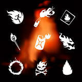 Fire set Royalty Free Stock Images