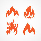 Fire set icons Royalty Free Stock Photos