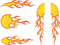 Fire Set. Vector illustration of fire set Stock Photos