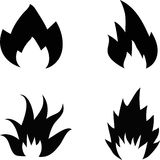 Fire set in vector Stock Images