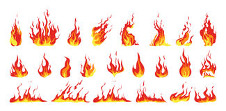 fire set. Stock Photos