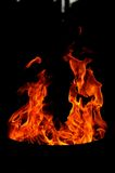 Fire shapes. Fire in variaty of shapes Royalty Free Stock Photo
