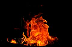 Fire shapes Royalty Free Stock Images