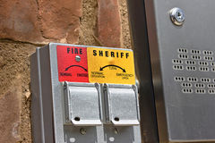 Fire and Sheriff Gate Lock Royalty Free Stock Image