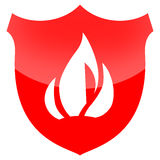 Fire Shield Royalty Free Stock Photography