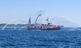 Fire Ship Stock Photography