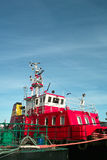 Fire ship. Royalty Free Stock Photography