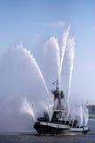 Fire ship Royalty Free Stock Photo