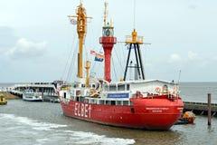 Fire Ship Elbe1 Royalty Free Stock Photos