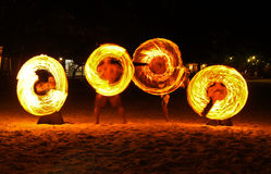 Fire Show. At Koh Samet, Thailand Stock Images