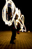 Fire show. Night fire show - a show abstract Royalty Free Stock Photos
