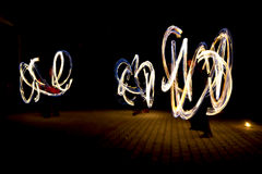 Fire show. Night fire show - a show abstract Stock Photo