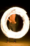 Fire show. Fireshow, young man in action with fire on the beach Royalty Free Stock Images