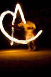 Fire show. Tharu Culture program, Acrobatics, Chitwan National Park, Nepal, Asia Royalty Free Stock Photo