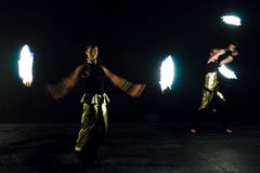 Fire show. Royalty Free Stock Images