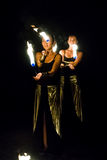 Fire show. Royalty Free Stock Photography