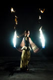 Fire show. Royalty Free Stock Image