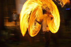 Fire show Fire Show Orange Flames Royalty Free Stock Photography