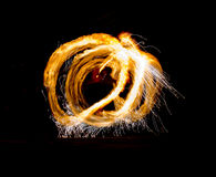 Fire Show Flaming Trails Royalty Free Stock Photo