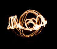 Fire Show Flaming Trails Royalty Free Stock Images