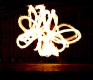 Fire Show Flaming Trails Royalty Free Stock Photography