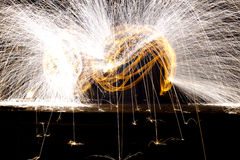 Fire Show Flaming Trails Royalty Free Stock Photos