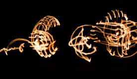 Fire Show Flaming Trails Royalty Free Stock Image