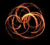 Fire show flaming trails, background Royalty Free Stock Photography