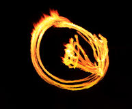 Fire show flaming trails, background Royalty Free Stock Photos