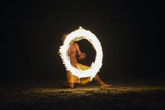 Fire show in Nadi, Fiji Royalty Free Stock Photo