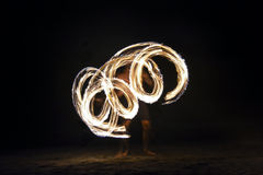 Fire show in Nadi, Fiji Stock Photos