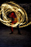 Fire show. Night fire show - a show abstract Royalty Free Stock Photo