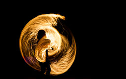 Fire Show at night on Phi Phi Island, Stock Photography