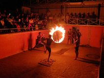 Fire show performance Stock Photos