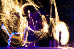 Fire show. On phi-phi island, Thailand Stock Images